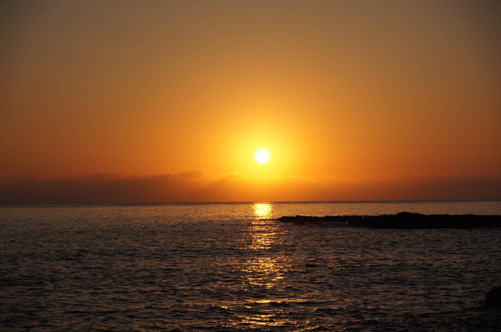 Рассвет на Крите, ранее утро