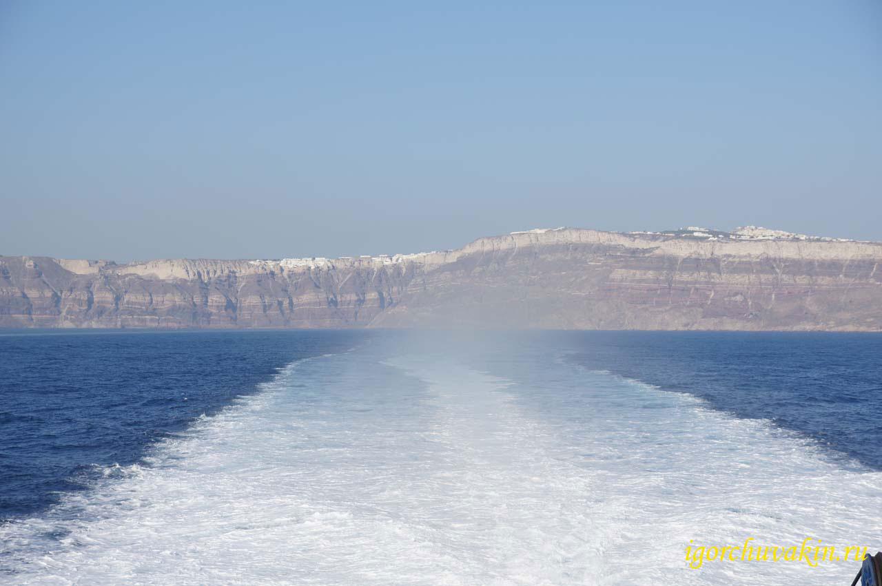 Санторини. Отплываем. фото Игоря Чувакина