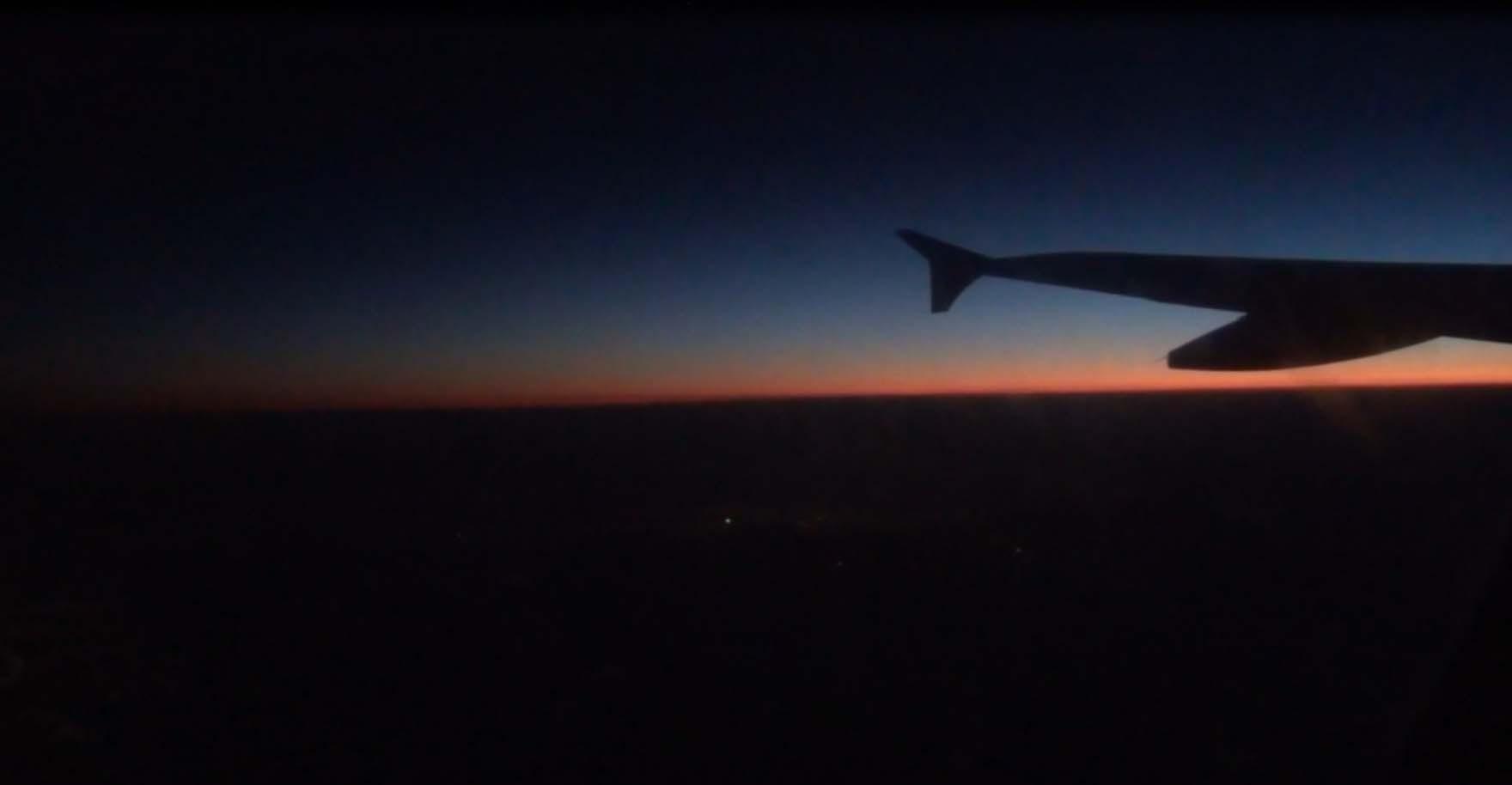 Рассвет над облаками, фото Игоря Чувакина
