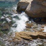 Камень в море
