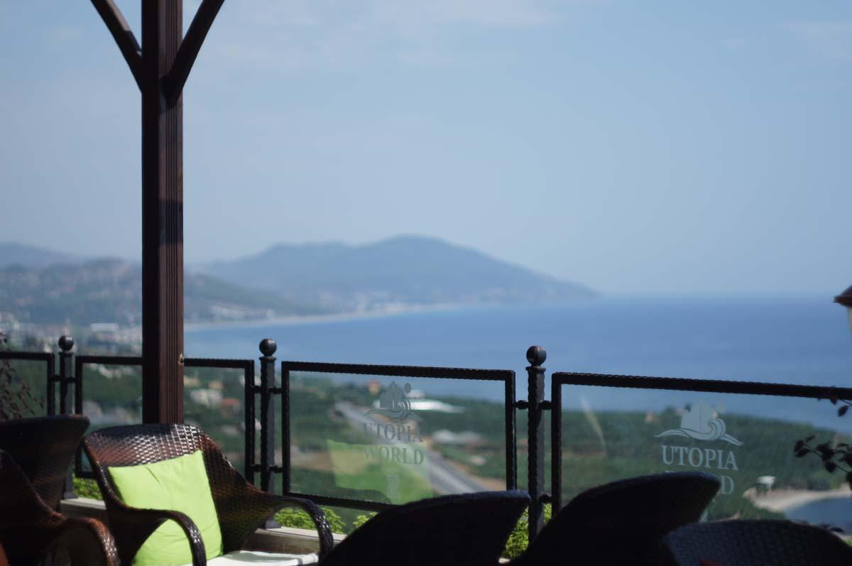 Виды из отеля. Отель Utopia World. Турция.