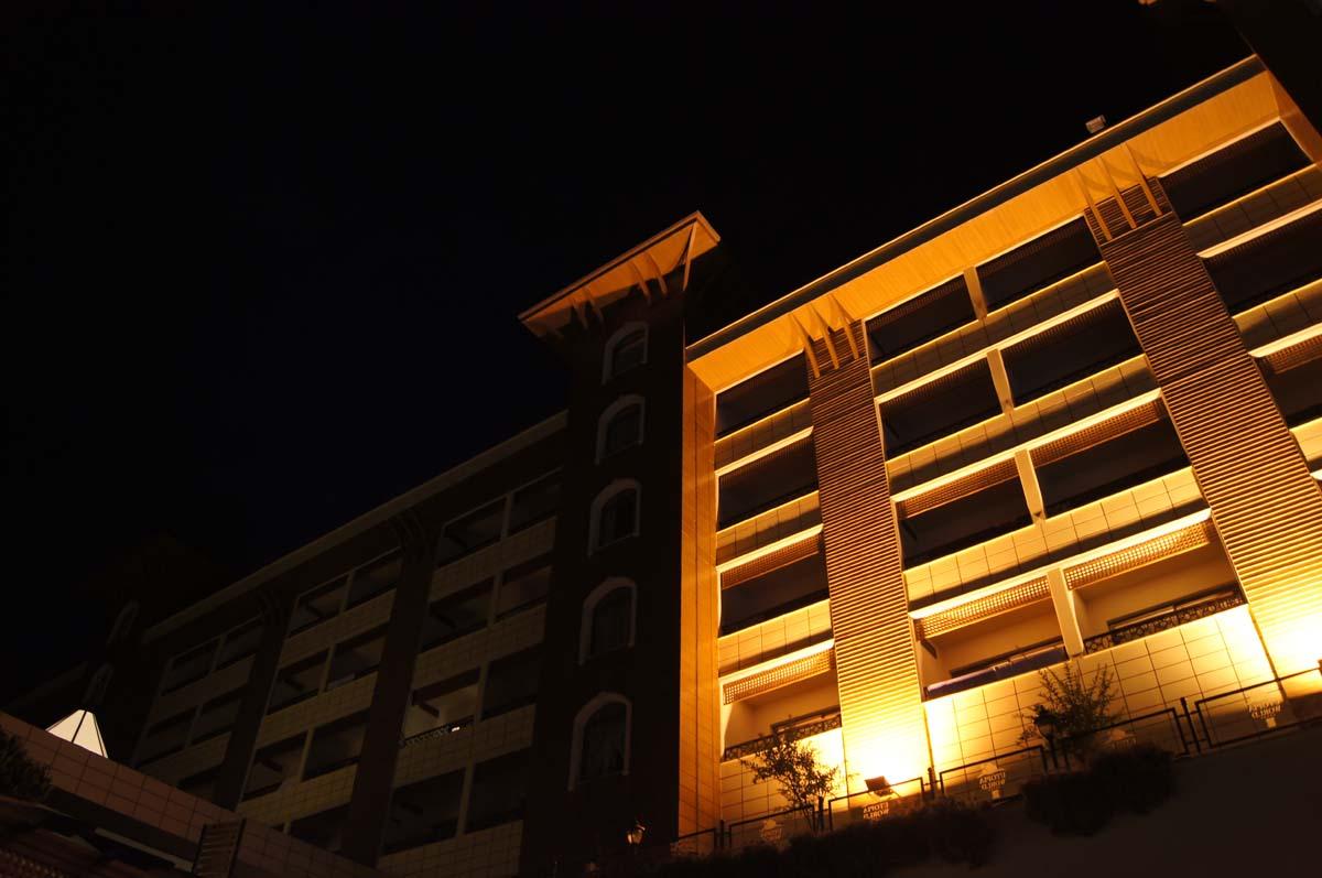 Подсветка. Отель Utopia World Турция.