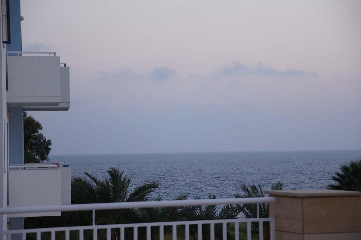 Море из отеля. Отель St. George. Paphos.