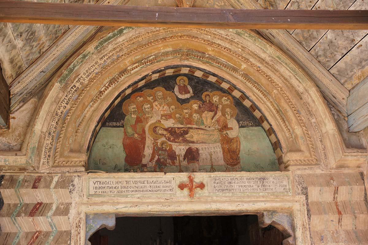 Икона на входе, Кипр, Киккос, Cyprus, Panagia tou Kykkou
