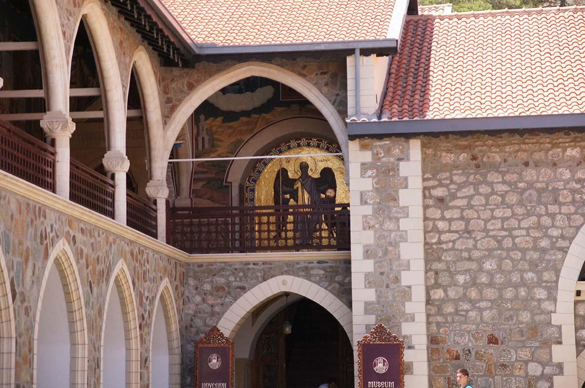 Икона на террасе сверху, Кипр, Киккос, Cyprus, Panagia tou Kykkou